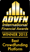 ADVFN: Winner Best Crowdfunding Platform 2015